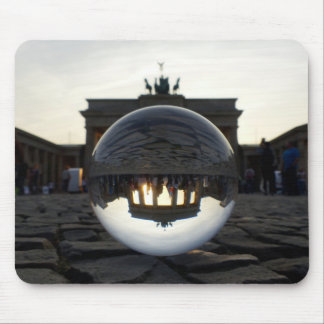 Through the crystal ball, Brandenburg Gate Mouse Pad