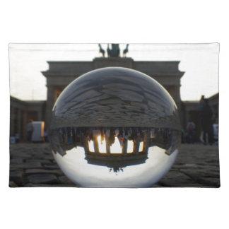 Through the crystal ball, Brandenburg Gate Placemats