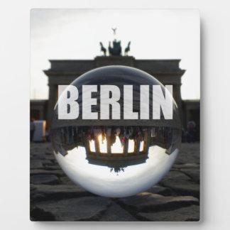 Through the crystal ball, Brandenburg Gate Plaque