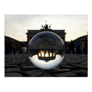 Through the crystal ball, Brandenburg Gate Postcard