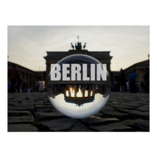 Through the crystal ball, Brandenburg Gate Poster