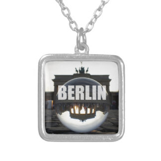 Through the crystal ball, Brandenburg Gate Square Pendant Necklace