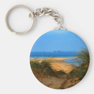 Through the Dunes Basic Round Button Key Ring