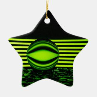 Through the glass ceramic star decoration