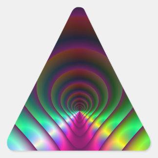 Through the Keyhole Triangle Sticker