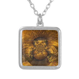 Through the Line of Time Book Covers From GSS Square Pendant Necklace