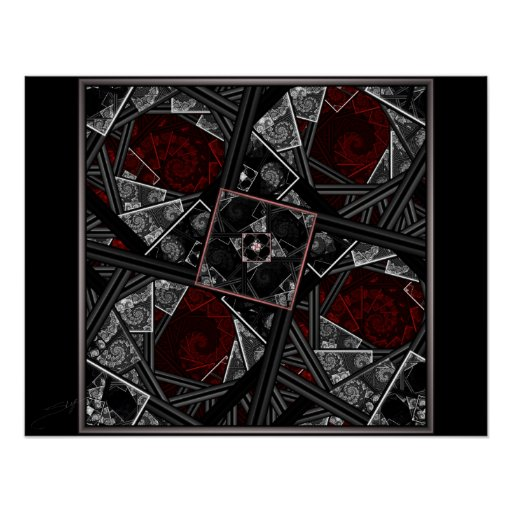 Through the Looking Glass Fractal Poster Print
