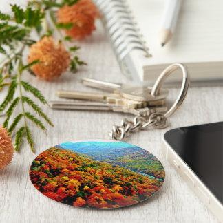 Through The Smokey Mountain Range Basic Round Button Key Ring