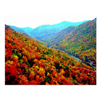 Through The Smokey Mountain Range Postcard