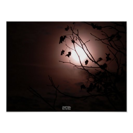 Through the Trees (Full Moon in March) Poster
