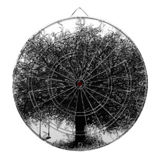 Through the Years Ink Illustration Dartboard