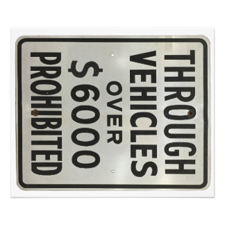 through vehicles prohibited photo