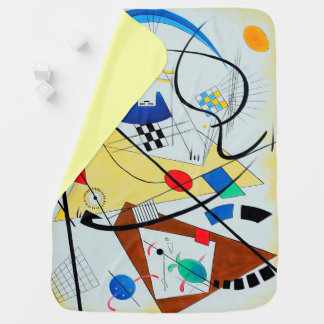 Throughgoing Line by Wassily Kandinsky Swaddle Blankets