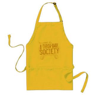 throw-away society standard apron