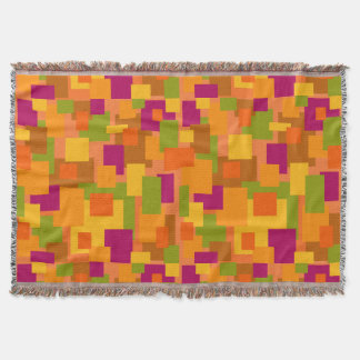 Throw Blanket Autumn Patch 2 Abstract Art