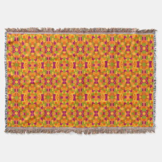 Throw Blanket Autumnal Patch 2B Fractal