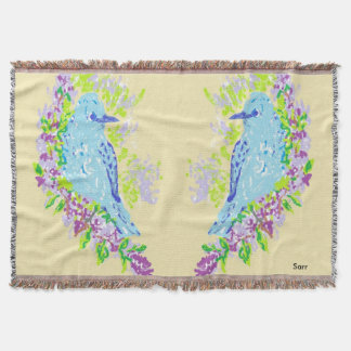 Throw Blanket/ Blue Birds