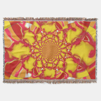 Throw Blanket bright kaleidoscope 3 multi design