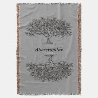 Throw Blanket - Family Trees