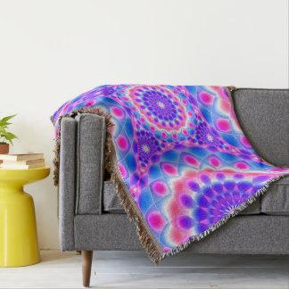 Throw Blanket Mandala Psychedelic Visions