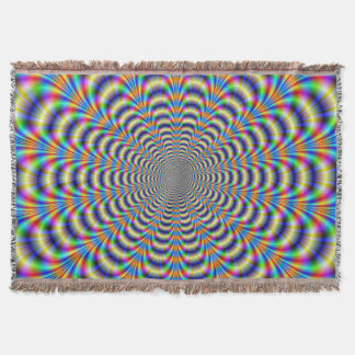 Throw Blanket  Psychedelic Ringed Pulse