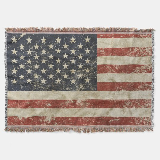 Throw Blanket with flag of USA