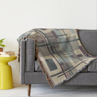 """Throw Blanket with """"New Plaid"""" Design"""