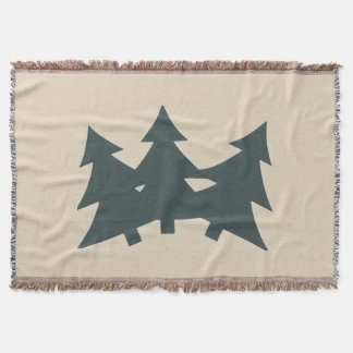 Throw Blanket with print of Pine trees