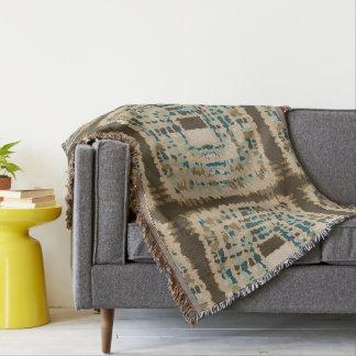 Throw Blankets. Classic Earthy Tones Tiedye Look