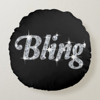Throw Cushion Featuring Faux Diamond Bling Design