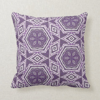 Throw Cushion with Purple Repeat Pattern