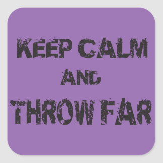 Throw Far, Track and Field Thrower Stickers
