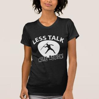 throw javelin design tee shirt
