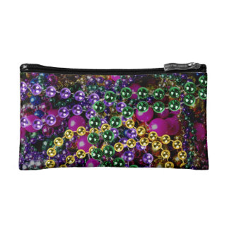"""throw me something!"" MARDI GRAS COSMETIC BAG"