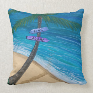Throw Pillow 20x20 Reversible Maui Turtle/Beach