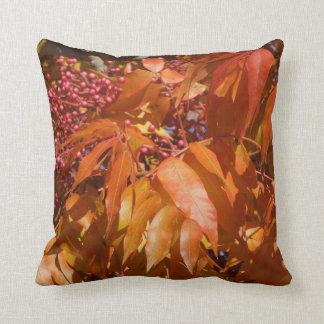 Throw Pillow: Autumn Leaves and Berries Cushions