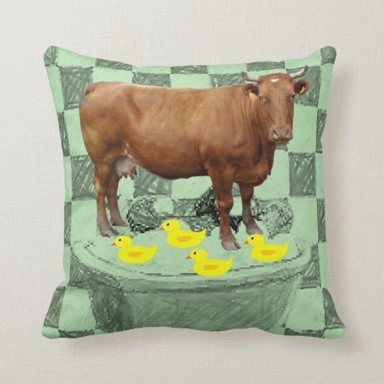 Throw Pillow Cow