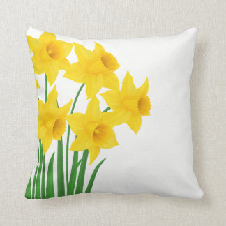 Throw Pillow-Daffodils Throw Pillow