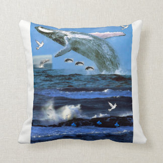 throw pillow decore dolphin ocean