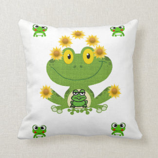 throw pillow decore frog
