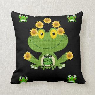 throw pillow decore frog