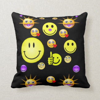 throw pillow decore smiley faces