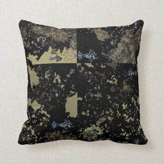 "Throw Pillow ""Fishy Fossils"""