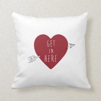Throw Pillow Heart, Get in Here! Love Pillow