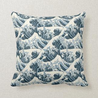 Throw Pillow - Hokusai's The Wave