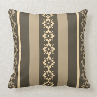 Throw Pillow Khaki and Grey