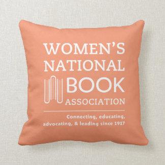 throw pillow orange wnba logo