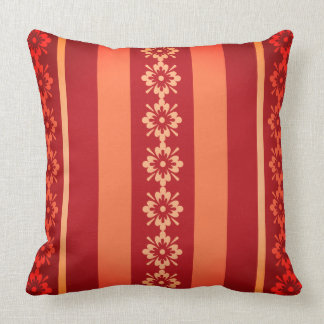 Throw Pillow Sangria Stripes and Floral OP1015