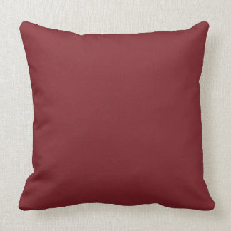 Throw Pillow Solid Burgundy OP1014
