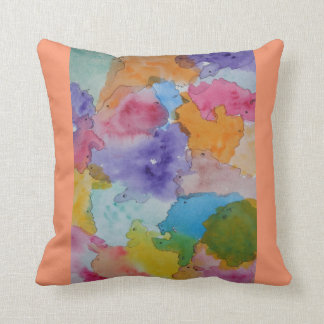 Throw pillow with abstract design cushion